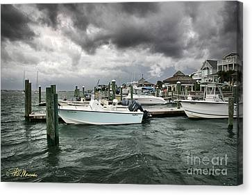 Canvas Print featuring the photograph Storm Over Banks Channel by Phil Mancuso