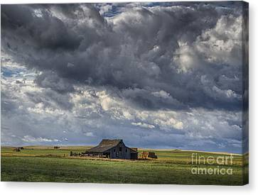Storm Over Barn Canvas Print