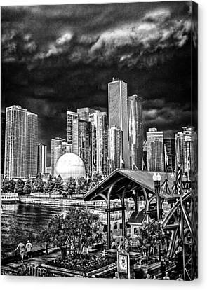 Storm Over Chi Town Canvas Print by Robert  FERD Frank