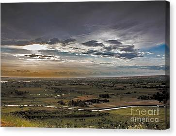 Storm Over Emmett Valley Canvas Print by Robert Bales
