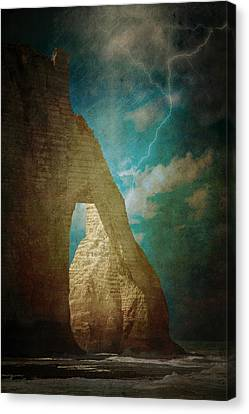 Storm Over Etretat Canvas Print by Loriental Photography
