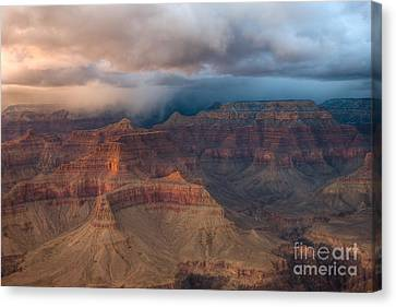 Hopi Canvas Print - Storm Over Grand Canyon by Clarence Holmes