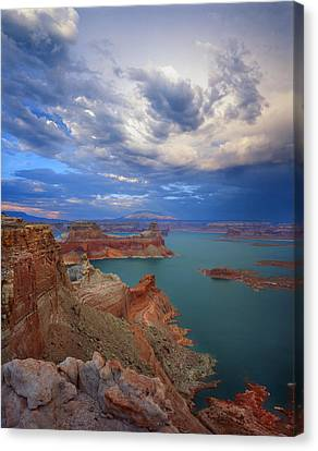 Storm Over Lake Powell Canvas Print by Ray Mathis