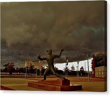 Storm Over Lefty Canvas Print by Ed Sweeney