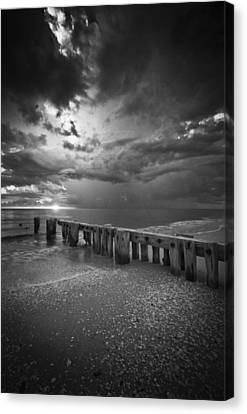 Storm Over Naples Florida Beach Canvas Print