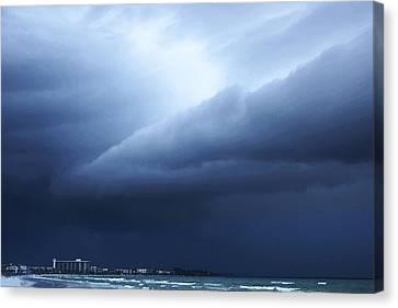 Storm Over Siesta Key - Beach Art By Sharon Cummings Canvas Print