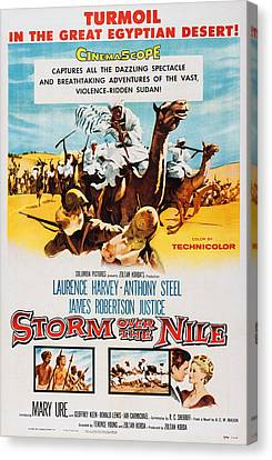 Storm Over The Nile, Us Poster Art, 1955 Canvas Print