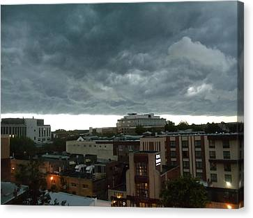 Canvas Print featuring the photograph Storm Over West Chester by Ed Sweeney