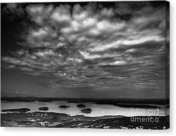 Storm Passes - Bar Harbor Canvas Print by David Rucker