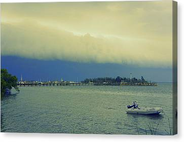 Turbulent Skies Canvas Print - Storm Rollin In by Laurie Perry