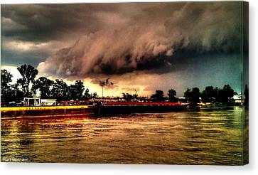 Storm Rolling In Canvas Print by Cory Shoemaker