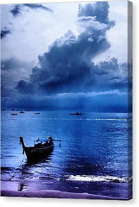 Storm Rolls Over The Sea Canvas Print by Kaleidoscopik Photography