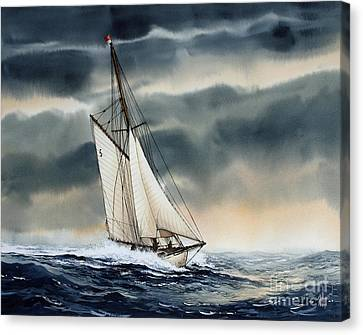 Storm Sailing Canvas Print by James Williamson