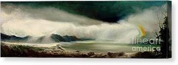 Canvas Print featuring the painting Storm by Sorin Apostolescu