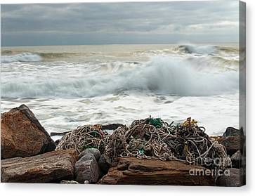 Storm Surf At Rye Beach Canvas Print