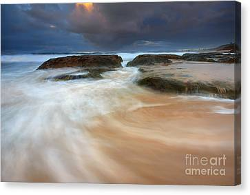 Storm Surge Sunrise Canvas Print by Mike Dawson