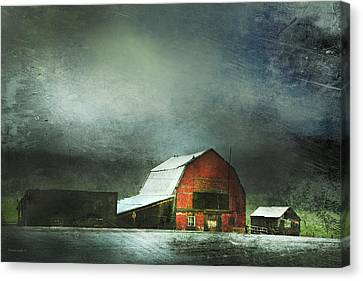 Barn Storm Canvas Print - Storm by Theresa Tahara