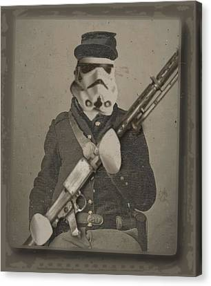 Storm Trooper Star Wars Antique Photo Canvas Print by Tony Rubino