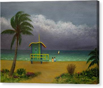 Storm Watchers Canvas Print by Gordon Beck