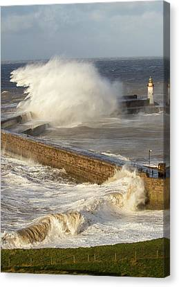 Storm Waves Canvas Print by Ashley Cooper