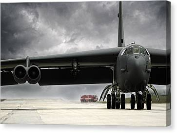 Stormfront B-52 Canvas Print by Peter Chilelli
