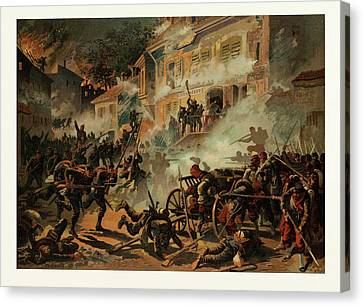 Storming Of Chateaudun On The 8th Of October Canvas Print by French School