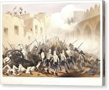 Storming Of Delhi Canvas Print by British Library