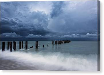 Storm's A Comin' Canvas Print by Mike Lang