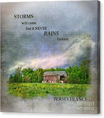 Old Barns Canvas Print - Storms Will Come by Pamela Baker
