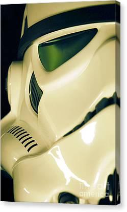 Stormtrooper Helmet 111 Canvas Print by Micah May