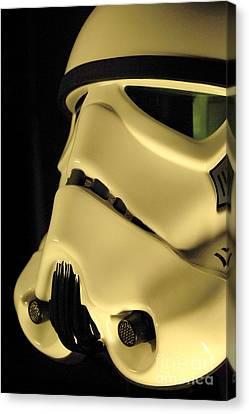 Stormtrooper Helmet 112 Canvas Print by Micah May