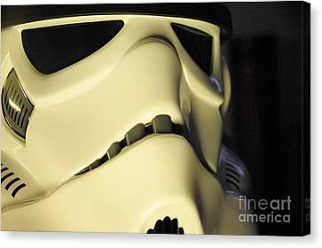 Stormtrooper Helmet 113 Canvas Print by Micah May