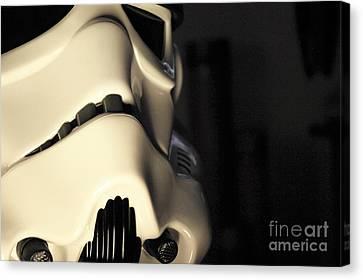 Stormtrooper Helmet 115 Canvas Print by Micah May