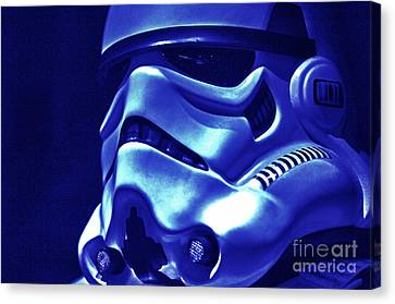 Science Fiction Canvas Print - Stormtrooper Helmet 21 by Micah May