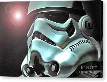 Science Fiction Canvas Print - Stormtrooper Helmet 27 by Micah May