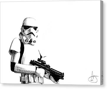 Stormtrooper Canvas Print by Joshua Sooter
