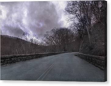 Turbulent Skies Canvas Print - Stormy Blue Ridge Parkway by Betsy Knapp