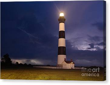 Stormy Bodie Lighthouse Outer Banks I Canvas Print by Dan Carmichael