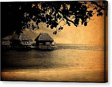 Stormy Bungalows Canvas Print by Milton Thompson