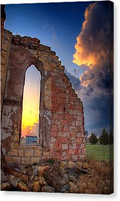 Stormy Church Canvas Print by Thomas Zimmerman