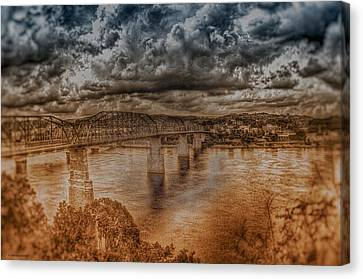 Canvas Print featuring the photograph Stormy Clouds by Dennis Baswell