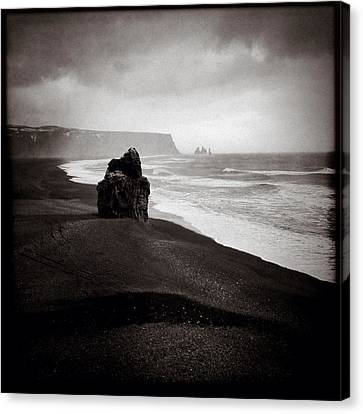 Stormy Day At Dyrholaey Canvas Print