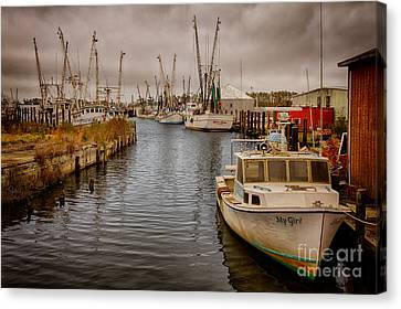 Stormy Day At Englehard - Outer Banks I Canvas Print by Dan Carmichael