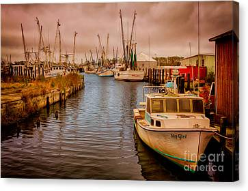 Stormy Day At Englehard - Outer Banks II Canvas Print