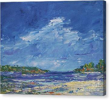 Stormy Day At Picnic Island Canvas Print by Gail Kent