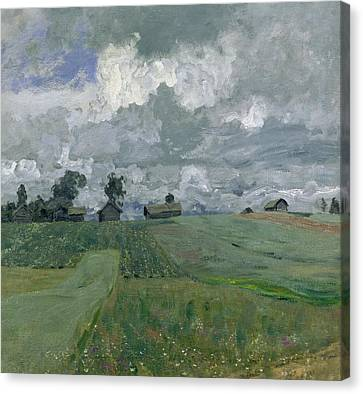 Stormy Day Canvas Print by Isaak Ilyich Levitan