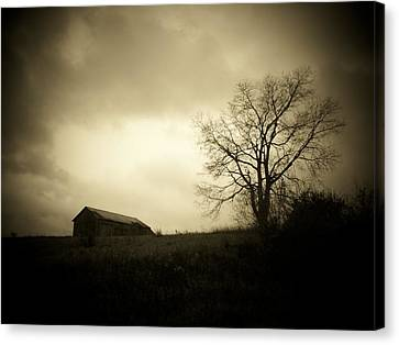 Stormy Day Canvas Print by Michael L Kimble