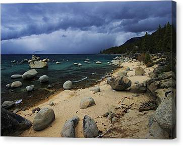 Canvas Print featuring the photograph Stormy Days  by Sean Sarsfield