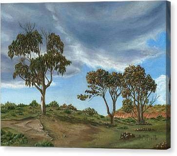 Stormy Eucalyptus Canvas Print by Angeles M Pomata