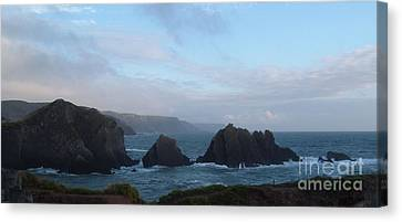 Hartland Quay Storm Canvas Print by Richard Brookes